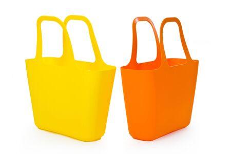 Big shopping bag. Isolated on white background.  photo