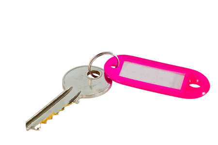 Keys isolated on white background photo