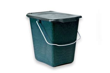 compost: Compost trash can isolated on white background