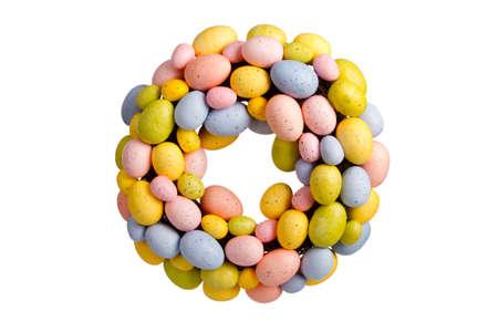 chaplet: Easter egg chaplet isolated on white background