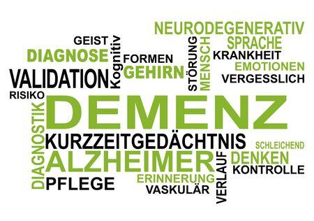 dementia: Dementia Schriftzge on dementia Stock Photo