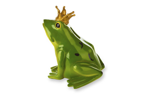 principe rana: Figure from frog prince isolated on white background