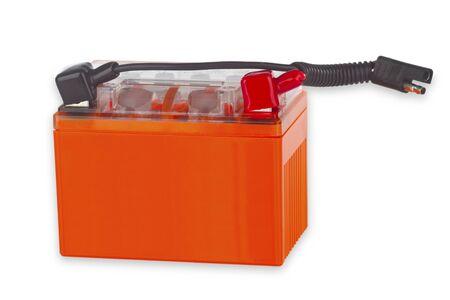 12v: Vehicle Battery isolated on white background Stock Photo