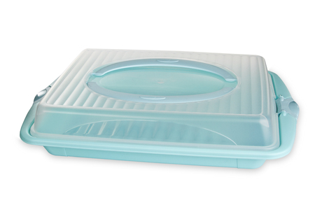 tupperware: Plastic Food container isolated on white background