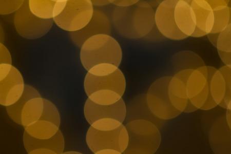 Beautiful Bokeh in golden colors