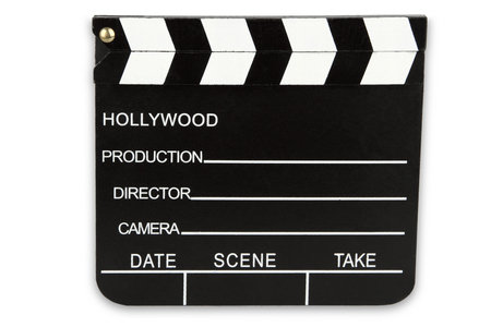 Cinema Clipboard isolated on white background Banco de Imagens