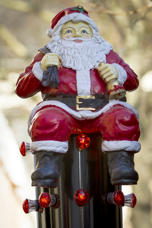 Santa Clause decoration on a german chritmas market