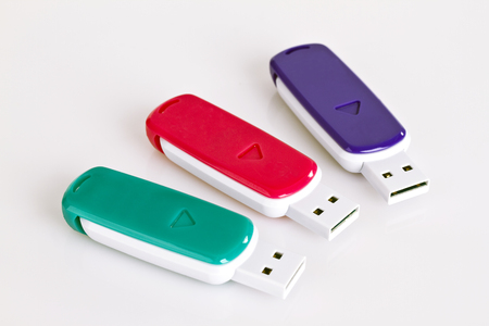 USB Sticks isolatd on white background 스톡 콘텐츠