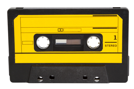 Retro Music Tape isolate on white background 版權商用圖片