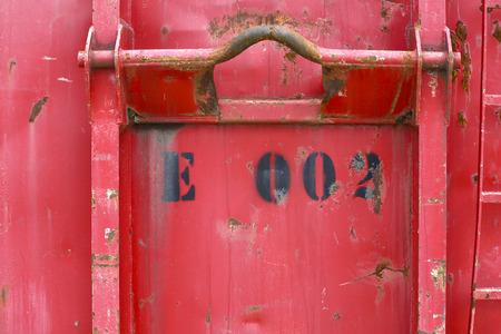 Detail von altem verwitterten Container