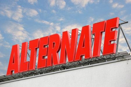 LINDEN, GERMANY JULY, 2017: ALTERNATE computer online order company, trading hardware and software, based in Linden, Hessen,Germany