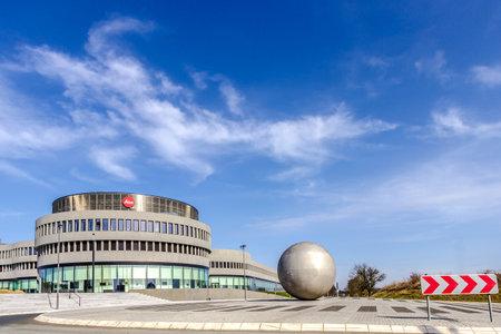 WETZLAR, GERMANY MARCH 2017: Company building of Leica Camera AG, Leitz Park, Wetzlar, Hesse, Germany, Europe