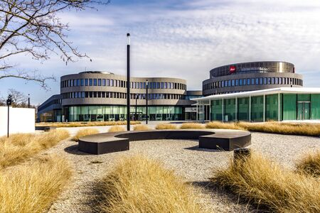 WETZLAR, GERMANY MARCH 2017: Company building of Leica Camera AG, Leitz Park, Wetzlar, Hesse, Germany, Europe