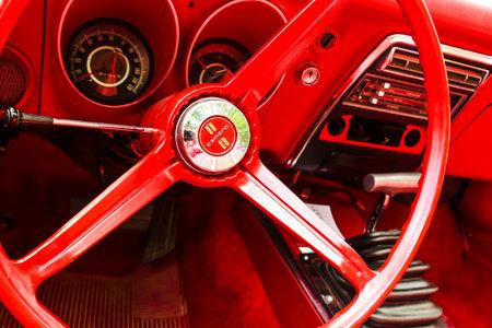 BAD NAUHEIM, GERMANY AUGUST 2017: A restored vintage Chevy Camaro on 16 th European Elvis Festival in Bad Nauheim, Hessen Editorial
