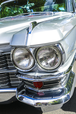 BAD NAUHEIM, GERMANY AUGUST 2017: Detail from classic Cadillac on a show, 16 th European Elvis Festival in Bad Nauheim, Hessen 報道画像