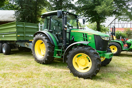 WETZLAR, GERMANY JULY, 2017: JOHN DEERE is a  US company Deere & Company, the world leader in agricultural technology, based in Illionis, USA