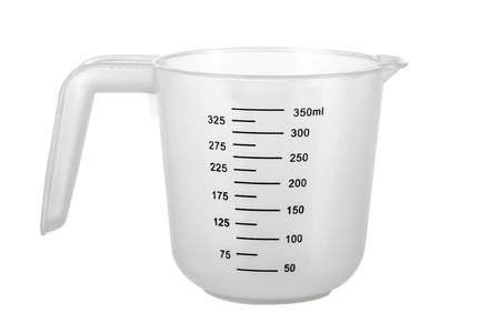 Empty Measuring Cup isolated on white background Stockfoto