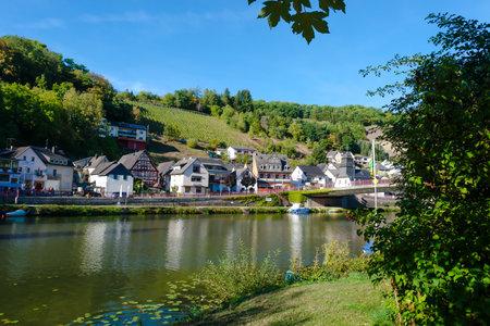 Idyllic Lahn River in Summer in Obernhof Germany, Rheinland-Pfalz