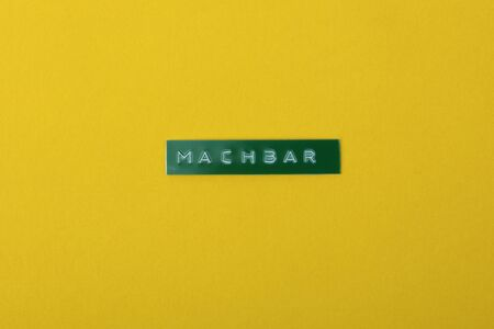 Machbar in german language means Feasibility Concept printing word with a Labewriter