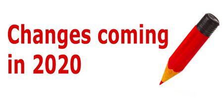 Das ändert sich 2020- German Language means - Changes coming in 2020. Symbol Concept.