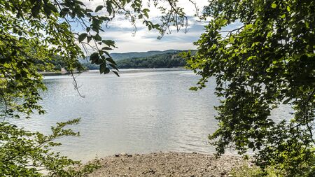 Beautiful Edersee with beach in North of Hessen in Germany Banque d'images