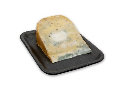 Moldy Cheese isolated on white background