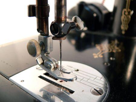 Close Up of Antique Sewing Machine
