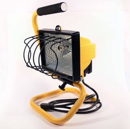 Isolated Yellow Work Light