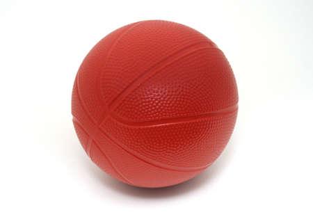 Toy Basketball on White Background