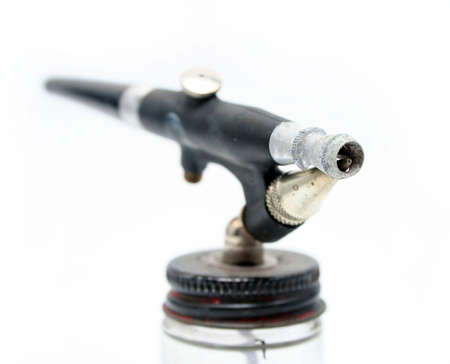 Black Antique Airbrush on White Background