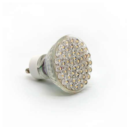 Modern LED Light Bulb on White Background