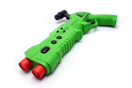 Isolated Green Wireless Video Game Gun Controller