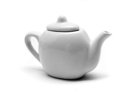 White Teapot on a White Background