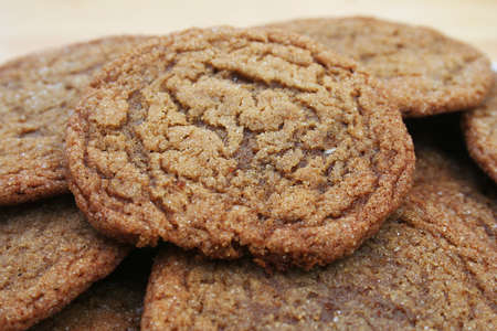 Close Up of a pile of Molasses Sugar Cookies