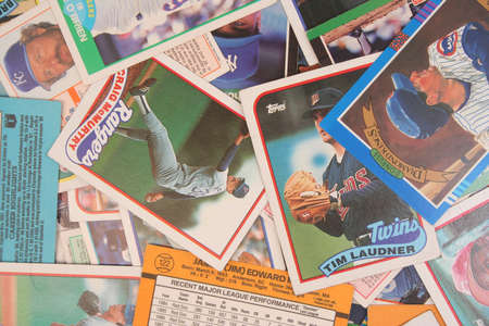 A Scattered Collection of Vintage Baseball Cards Stock Photo - 11867638