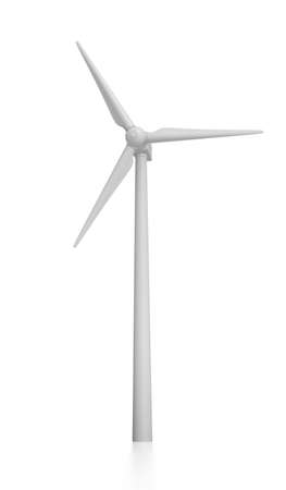 3D Rendered Windmill on a White Background photo