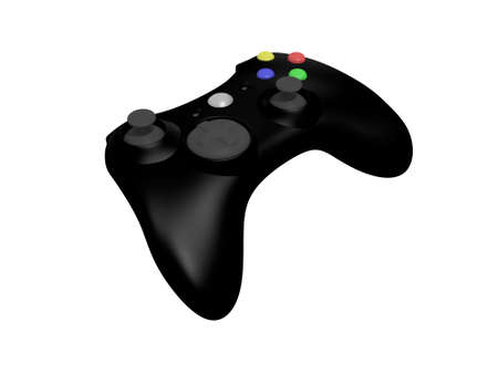 Isolated Black Wireless Video Game Controller