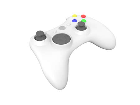 Isolated White Wireless Video Game Controller