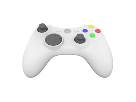 Isolated White Wireless Video Game Controller photo