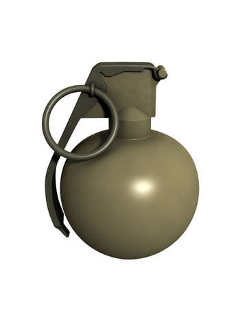 3D Rendered M67 Grenade on a White Background photo