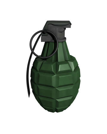 3D Rendered MK11 Grenade on a White Background Stock Photo