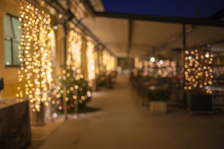 Christmas time in Vienna blurred background restaurant inn.