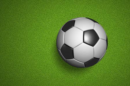 Soccerball court view in flat lay Zdjęcie Seryjne