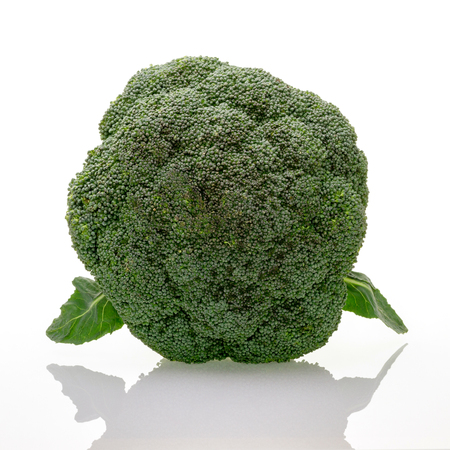A whole broccoli plant isolated on white background. Green and vegan food, healthcare and organic fair trade concept. Zdjęcie Seryjne - 122579935
