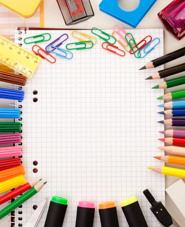 Colorful school or college equipment. Education, office and creative concept. Zdjęcie Seryjne - 122581419