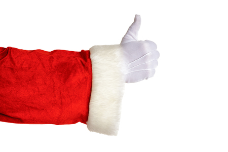 Santa Claus thumb up isolated on white background. Christmas concept. Zdjęcie Seryjne - 122581494