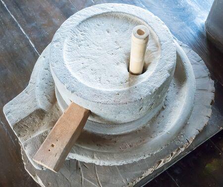 millstone: millstone in Thailand Stock Photo