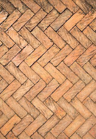 brick floor: Orange brick Floor Stock Photo