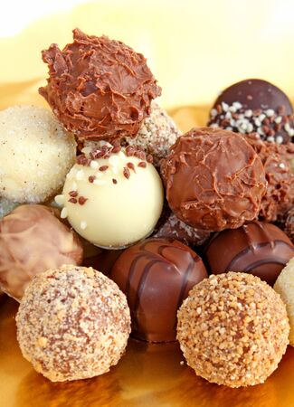 Different shaped truffles