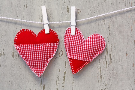 handmade hearts of scrim on line